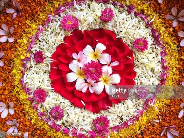Close up of Flower Rangoli