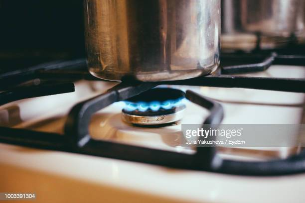 Close Up Of Food Cooking On Stove