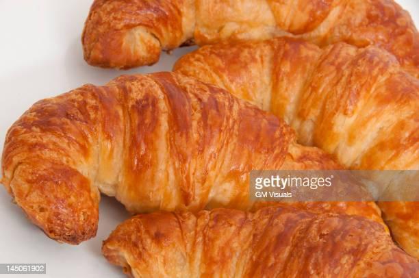 Close up of fresh croissants