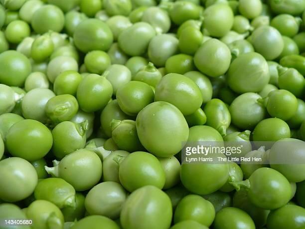 Close up of fresh green peas