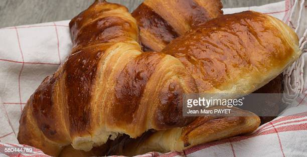 close up of freshly baked croissants home made - jean marc payet stock pictures, royalty-free photos & images