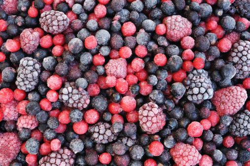 Close up of frozen mixed fruit  - berries 139491204