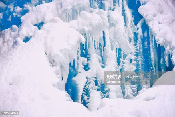 Close up of FROZEN WATERFALL