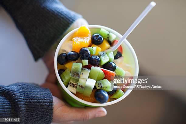 Close up of frozen yogurt