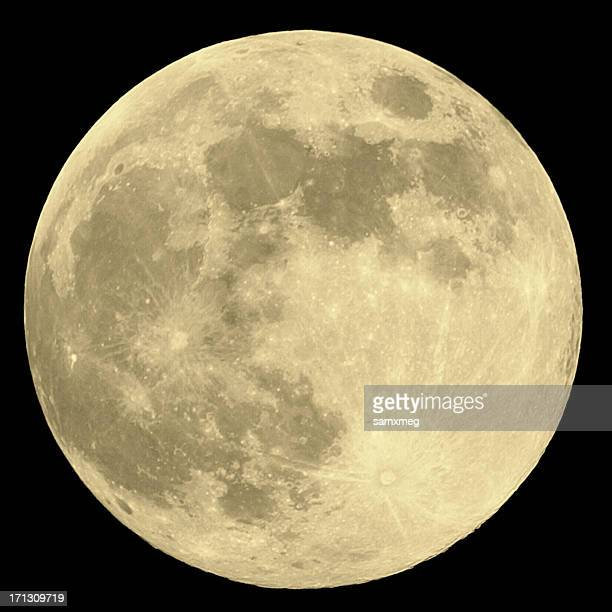 close up of full moon on black background - moon stock pictures, royalty-free photos & images