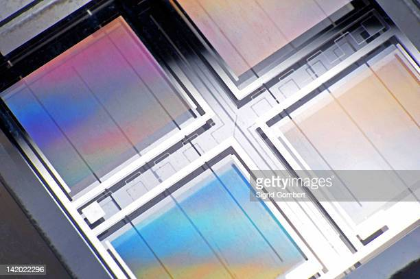 close up of gas sensor microchip - sensor stock pictures, royalty-free photos & images