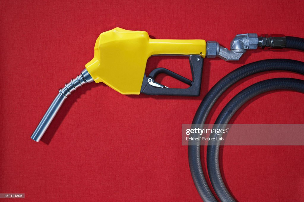 Close up of gasoline pump nozzle : Stock Photo
