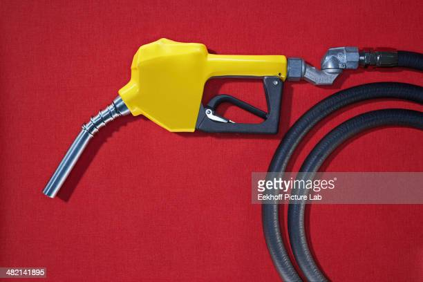 Close up of gasoline pump nozzle