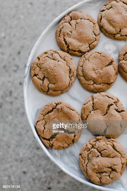 Close Up of Ginger Cookies