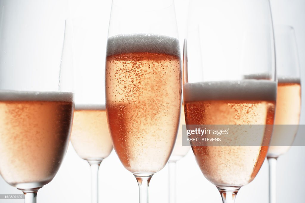 Close up of glasses of champagne : Stock Photo