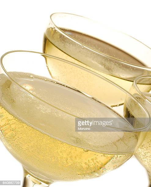 Close up of glasses of sparkling wine