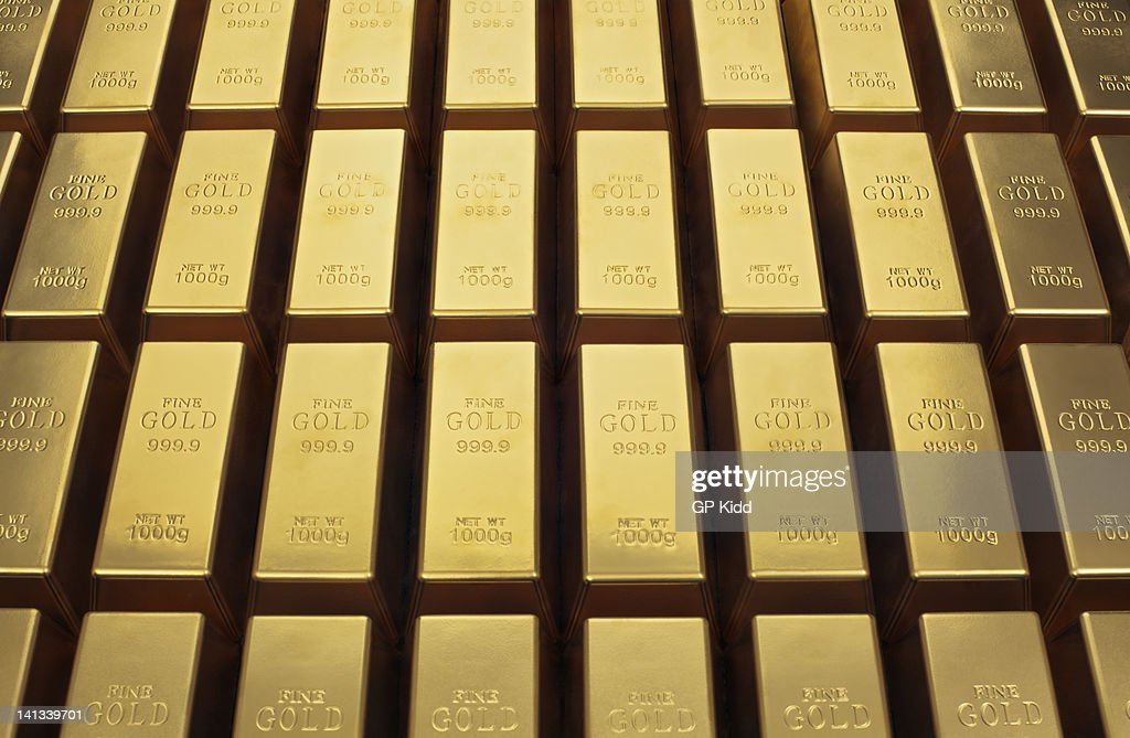Close up of gold bars : Stock Photo