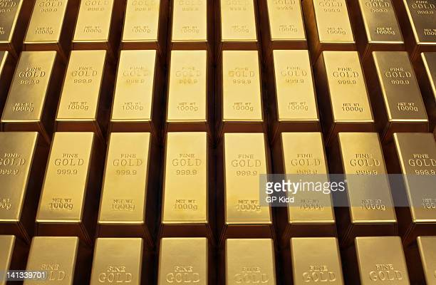 Close up of gold bars