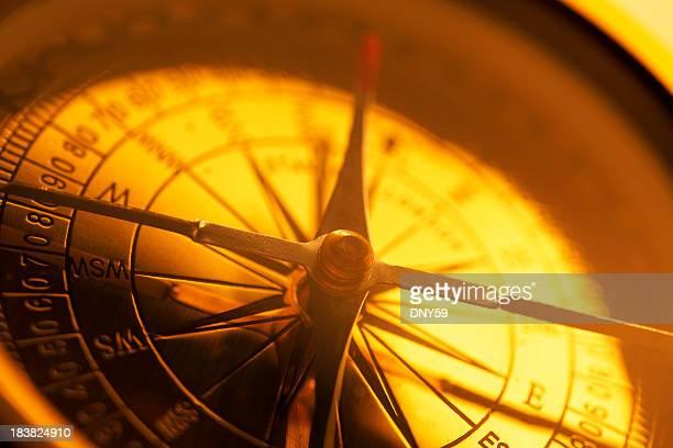 Close Up Of Golden Compass Face