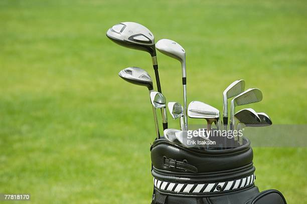 Close up of golf bag