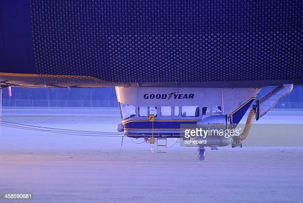 Close up of gondola on Goodyear Blimp