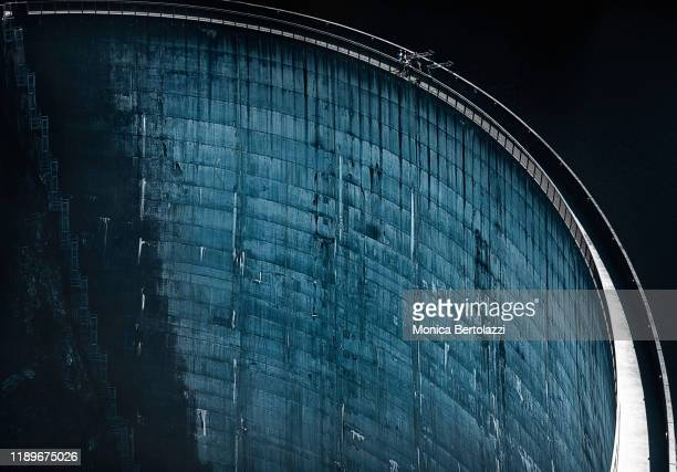 close up of gordon dam - hydroelectric power stock pictures, royalty-free photos & images