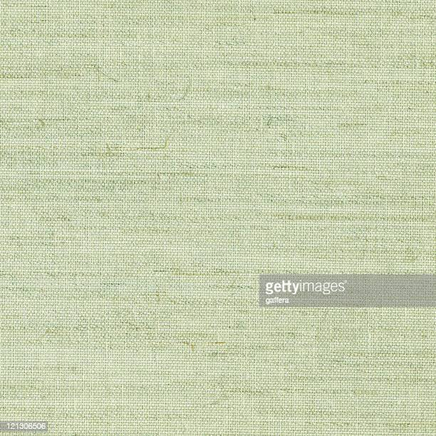 Close up of green burlap texture