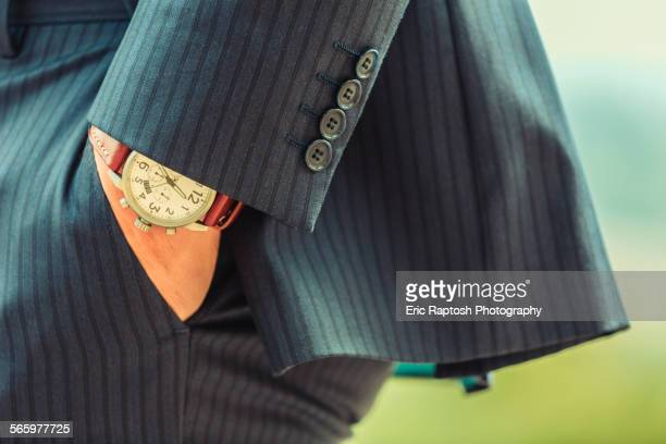 close up of hand in pocket of caucasian businessman - striped suit stock pictures, royalty-free photos & images