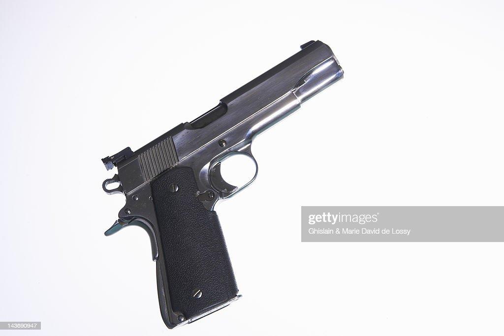 Close up of handgun : Stock Photo