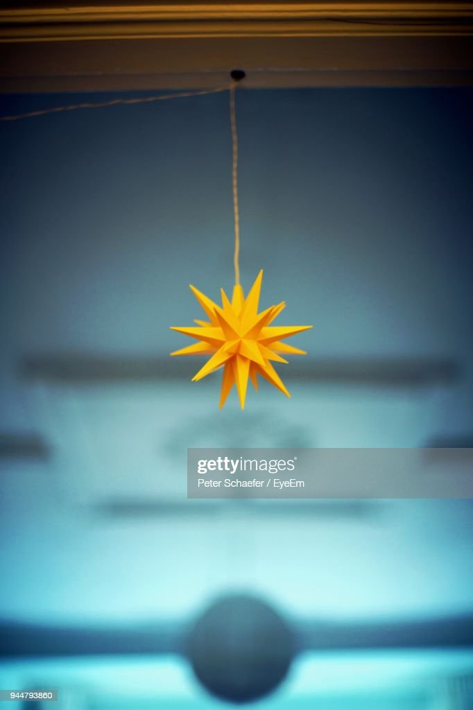 Close Up Of Handmade Paper Star : Stock Photo