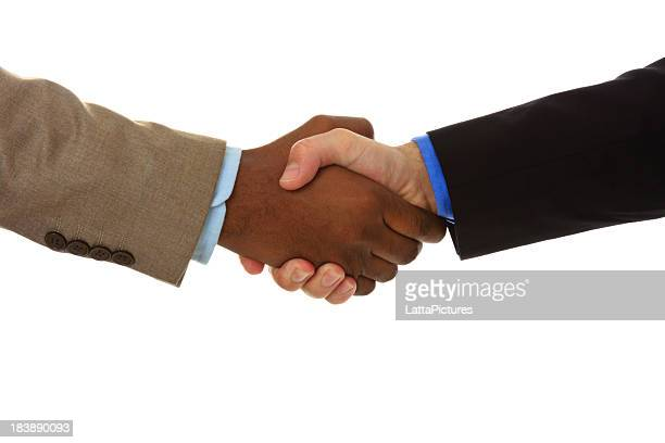 Close up of handshake between two businessmen