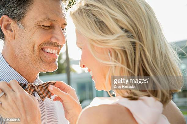 Close up of happy middle-aged couple