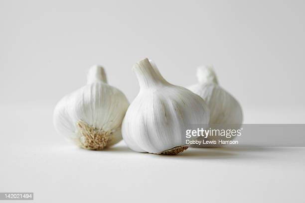 Close up of heads of garlic