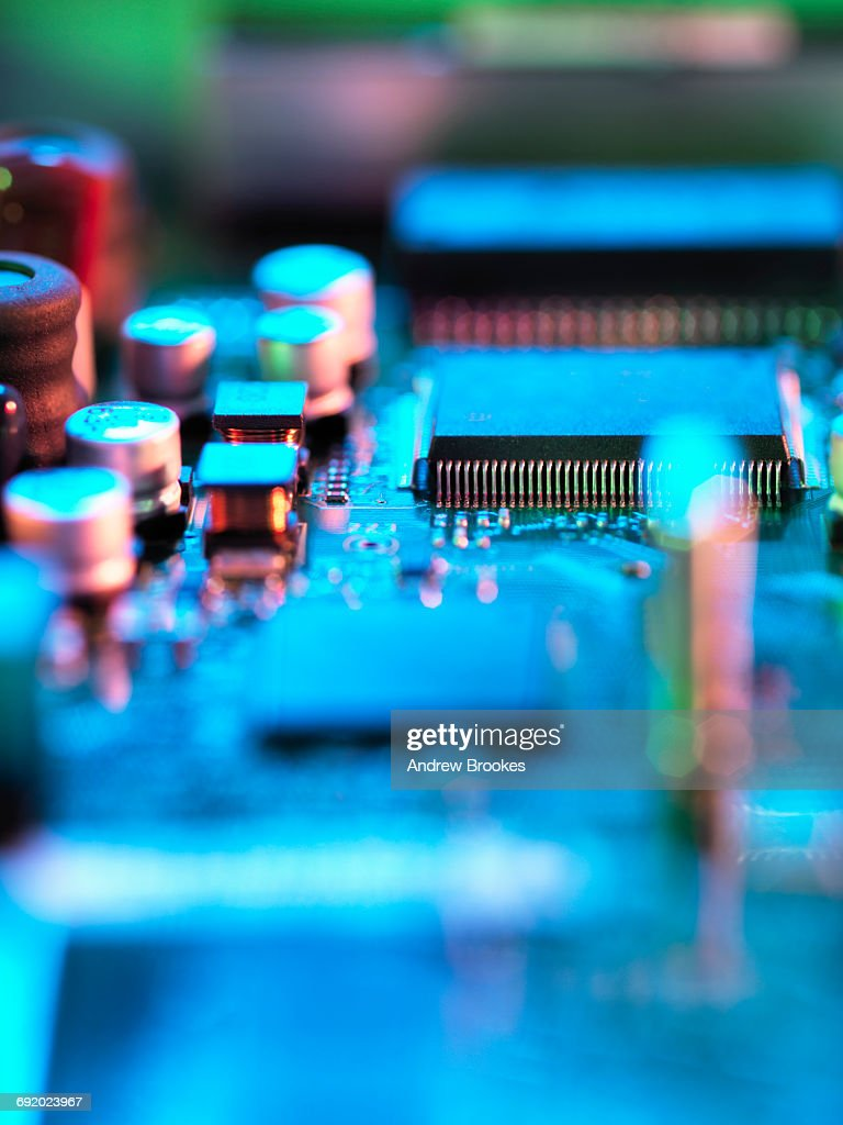 Close Up Of Hitech Electronic Circuit Board Stock Photo Getty Images Games Hi Tech