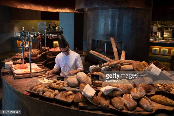 close up of huge selection of pastries and bread - borough market stock pictures, royalty-free photos & images