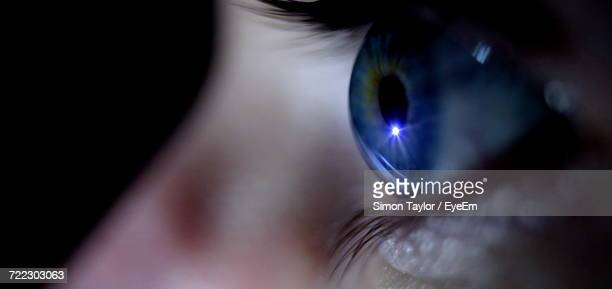 close up of human eye - eyeball stock pictures, royalty-free photos & images