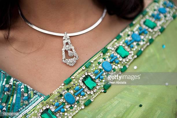 Close up of Indian woman's sari