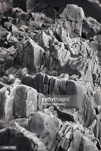 Close up of jagged rocks