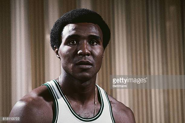 1974 Close up of Jo Jo White basketball player for the Boston Celtics in uniform Undated color slide