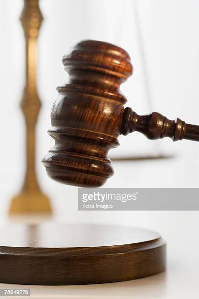 Close up of judge's gavel