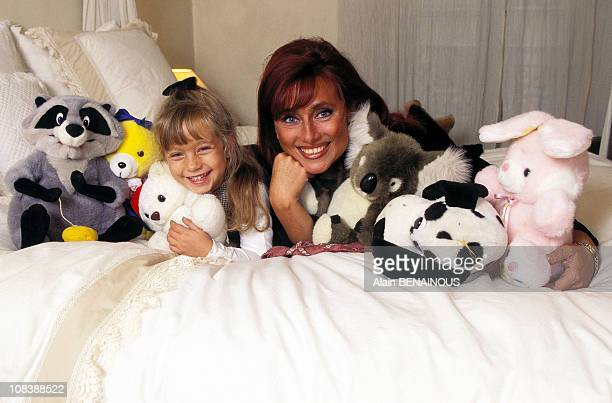Close up of Julie Pietri And Her Daughter Manon France on September 25, 1996.