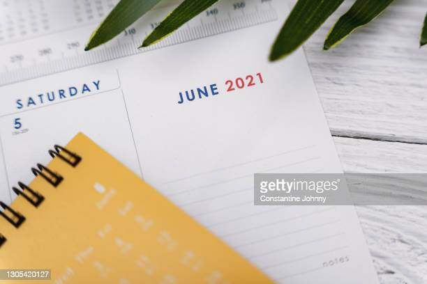 close up of june 2021 calendar - june stock pictures, royalty-free photos & images