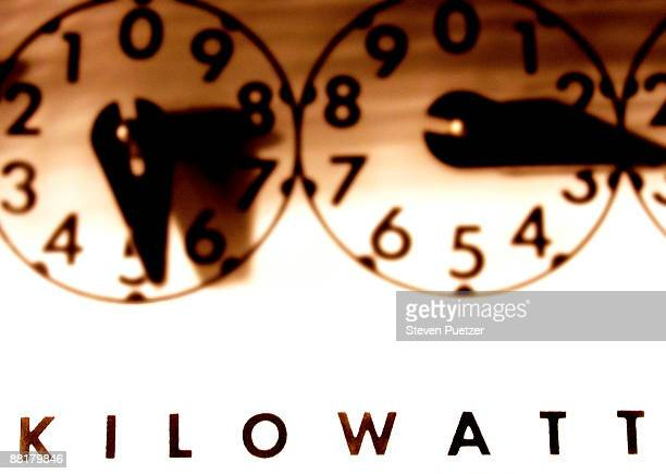 Close up of kilowatt gauge