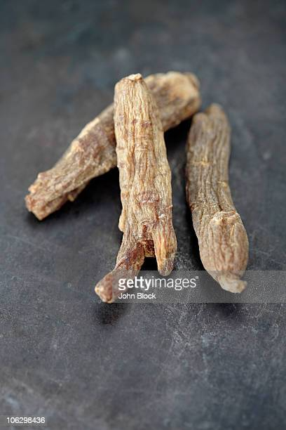 Close up of Kirin red dried ginseng
