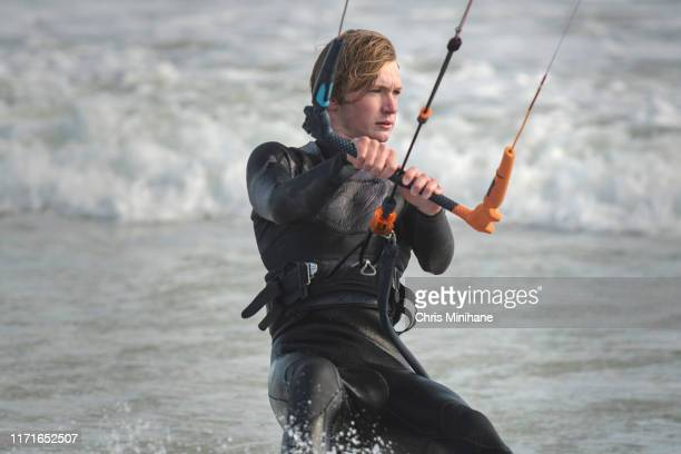 close up of kite surfer - stock image - south sudan stock pictures, royalty-free photos & images