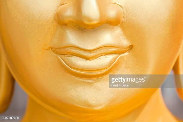 Close up of large Buddha statue