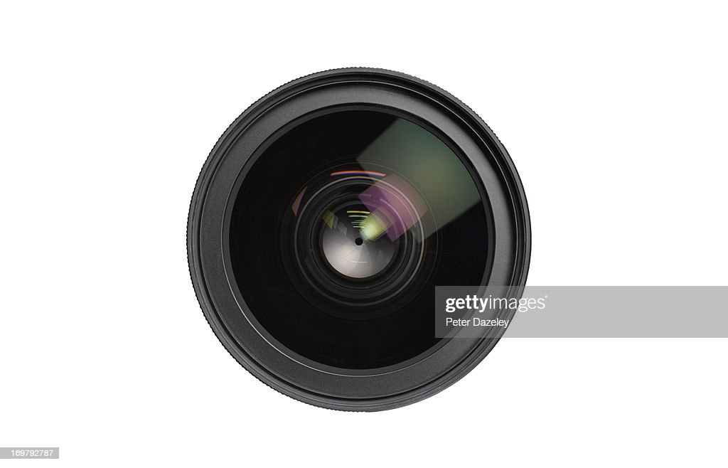 Close up of lens on white background : Stock Photo