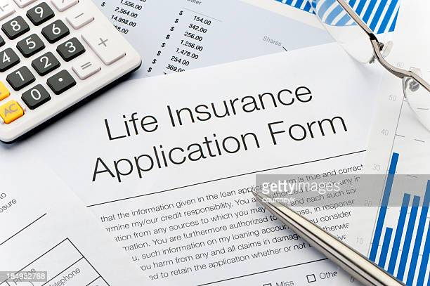 Close up of Life Insurance Application Form