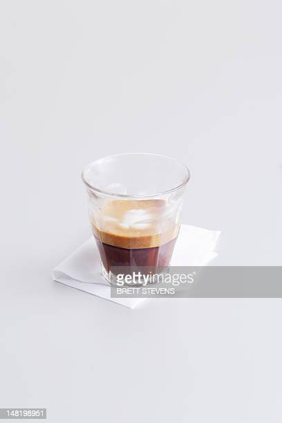 Close up of macchiato