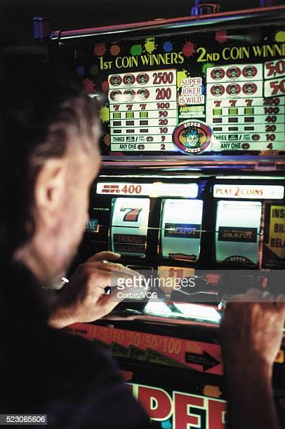Close up of man at the slot machine