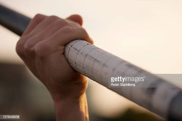 close up of man holding pole - robin skjoldborg stock pictures, royalty-free photos & images