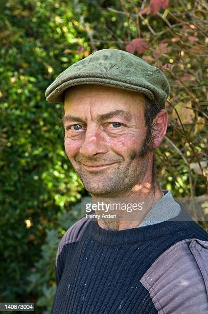 close up of mans smiling face - sideburn stock pictures, royalty-free photos & images