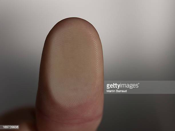 Close up of man's thumb print