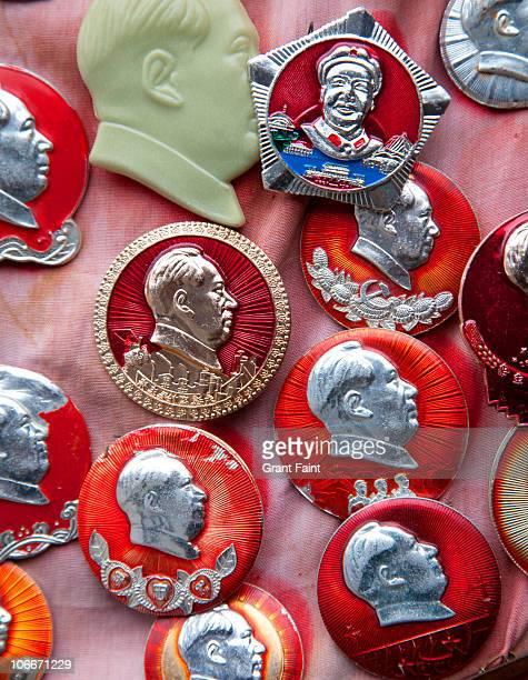 Close up of Mao souvenirs