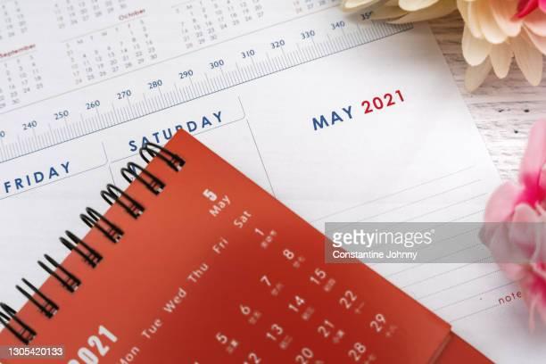 close up of may 2021 calendar - 五月 ストックフォトと画像